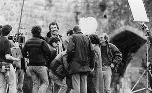 Tournage de la série Magnum en 1985.