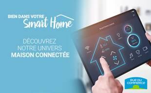 Profitez jusqu'à 40% de réduction sur l'univers maison connectée chez Rue du Commerce.