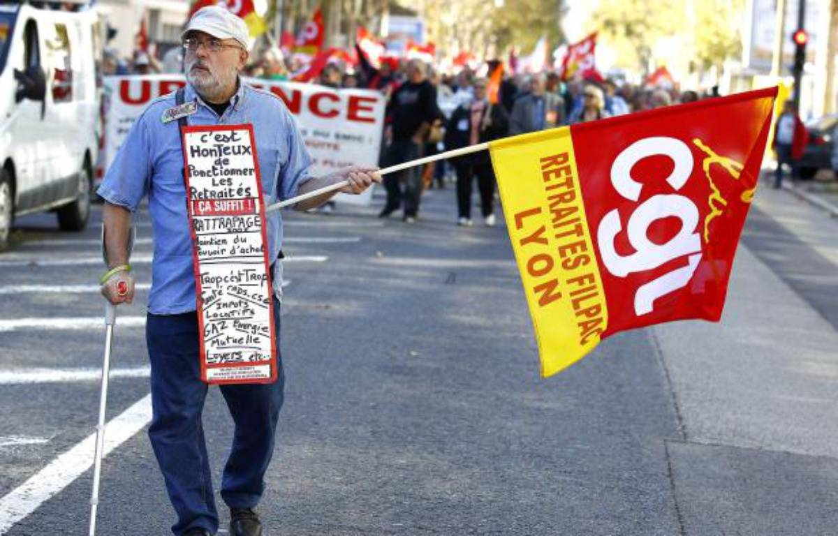 Un retraité lors d'une manifestation à Lyon. – FAYOLLE PASCAL/SIPA