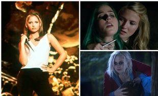 Sarah Michelle Gellar dans « Buffy contre les vampires », Eliza Bennett et Taylor Dearden dans « Sweet/Vicious » et Rose McIver dans « iZombie ».