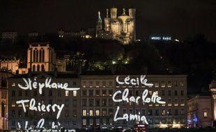 """L'installation """"Regards"""" de Daniel Knipper à Lyon le 8 décembre 2015"""