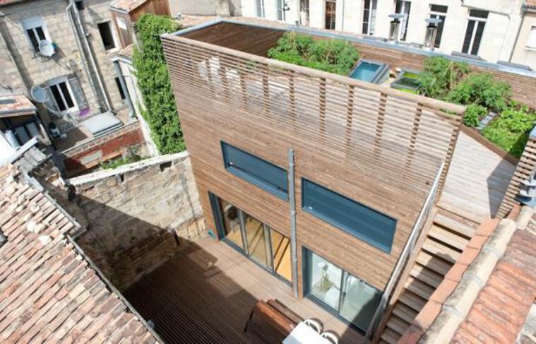 Vue d'une maison d'architecte à Bordeaux