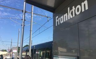 La station de tramway Frankton, à Blanquefort, près de Bordeaux.