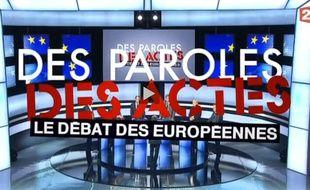 Les principaux chefs de parti invités de «Des paroles et des actes», spéciale Européennes, sur France 2, le 22 mai 2014.