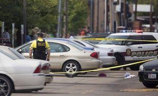 La police sur les lieux d'une fusillade à la Texas Southern University, le 9 octobre 2015.