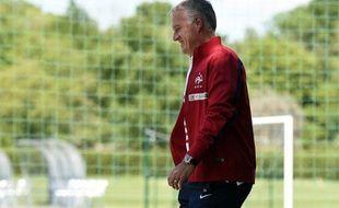 Didier Deschamps, le sélectionneur de l'équipe de France, le 19 mai 2014, à Clairefontaine.