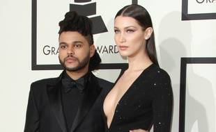 Le chanteur The Weeknd et la top Bella Hadid, en 2016.