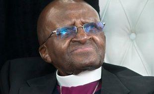 L'archevêque sud-africain et prix Nobel de la Paix Desmond Tutu, le 14 octobre 2015 au Cap