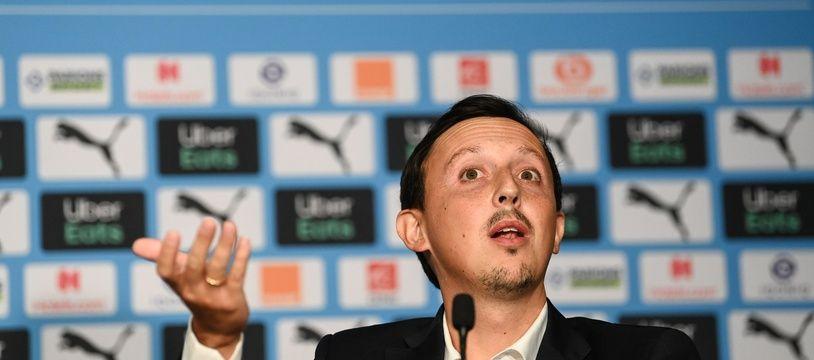 Pablo Longoria, le directeur sportif de l'Olympique de Marseille souhaite bâtir un projet sur 5 ans.