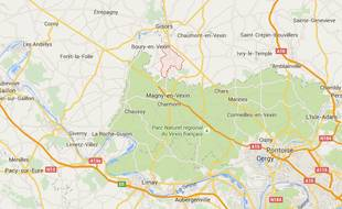 Carte situant Montjavoult (Oise).