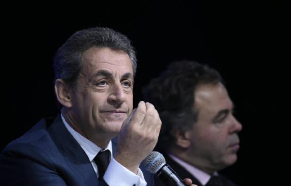 Nicolas Sarkozy lors du Conseil national des Républicains le 14 février 2016 à Paris – LIONEL BONAVENTURE AFP