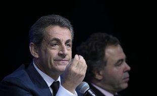 Nicolas Sarkozy lors du Conseil national des Républicains le 14 février 2016 à Paris