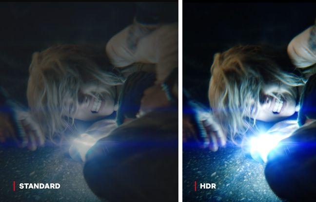 Comparaison entre l'image classique et HDR.
