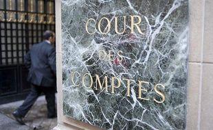 L'entrée de la Cour des Comptes, rue Cambon à Paris.