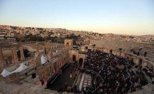Un amphithéâtre antique de Jerash. (illustration)