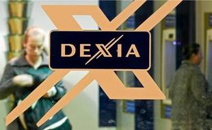 Devanture d'une banque Dexia.