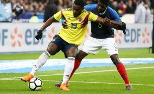 Umtiti n'a pas été impérial face à la Colombie en match amical.