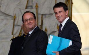 Le président François Hollande et Manuel Valls à l'Elysée le 11 mai 2016