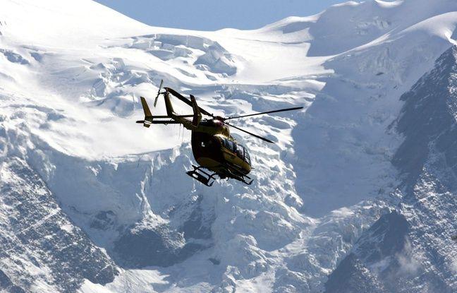 648x415 intervention helicoptere apres avalanche montagne illustration