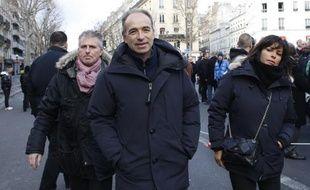 Jean-Francois Copé lors de la marche républicaine le 11 janvier 2015 à Paris