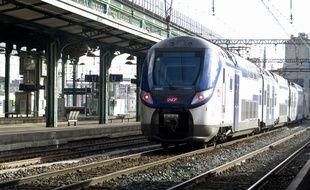 Lyon,le mardi 3 avril 2018. Illustration de la gare de la Part-Dieu. Trains à l'arrêt suite à la grève SNCF