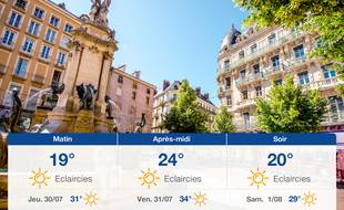 Météo Grenoble: Prévisions du mercredi 29 juillet 2020