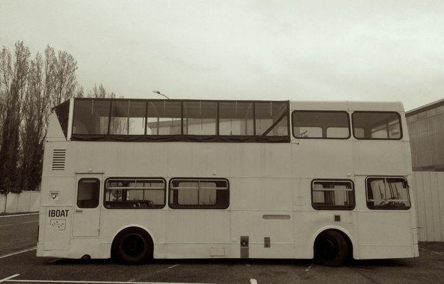 Le bus anglais de l'I.Boat vient de Liverpool.