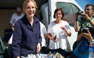 Nathalie Kosciusko-Morizet, qui vise la direction de l'UMP, était à Lège-Cap-Ferret en Gironde, le 16 août 2012