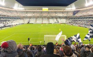 Les tribunes vides du Matmut Atlantique lors du match contre Le Havre en Coupe de la Ligue.