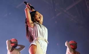 Rihanna lors de son concert au Telenor Arena à Oslo, en Norvège, le 2 juillet 2016.