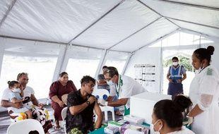 La campagne de vaccination est massive aux Samoa.