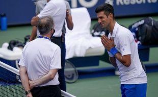 Novak Djokovic a beau parlementer, il a été exclu de l'US Open 2020.