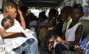 Quelques-uns des 31 enfants haïtiens que 10 Américains voulaient faire sortir du pays le 31 janvier 2010 à Haïti.