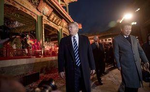 Donald Trump avec le président XI Jinping à Pékin le 8 novembre 2017.