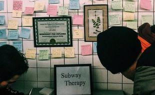Des usagers du métro new-yorkais ont organisé une sorte de «thérapie» pour mettre desmots sur ce qu'ils ont vécu.