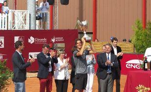 L'Australien Thanasi Kokkinakis vainqueur du tournoi challenger de Primrose Bordeaux, le 17 mai 2015.