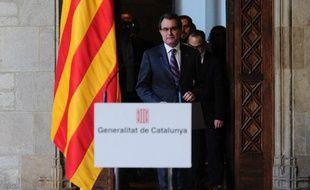 Le président nationaliste de Catalogne, Artur Mas, le 12 décembre 2013 à Barcelone