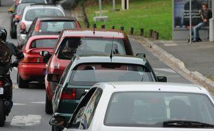 NANTES le 31/08/2011 Embouteillage dans le centre ville