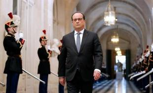 François Hollande arrive à Versailles pour un discours face au Congrès, le 16 novembre 2015