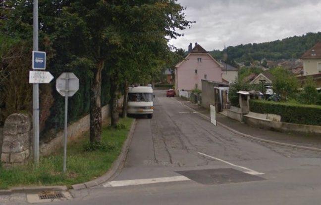 Cette rue de la commune de Rédange est située tout près de la frontière luxembourgeoise.
