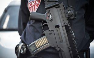C'est ce modèle de fusil qui était porté par des CRS le 12 janvier. Ils faisaient partie du dispositif de sécurité déployé autour de la manifestation des « gilets jaunes » à Paris.