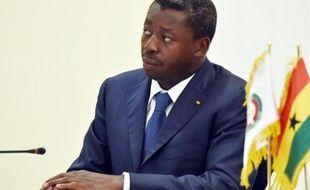 Le président togolais Faure Gnassingbé à Lomé le 28 avril 2015
