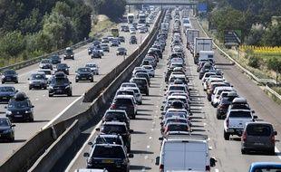 Embouteillages à Vienne (Isère) en 2018 (photo d'illustration)