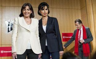 La candidate PS à la mairie Anne Hidalgo et la candidate à la primaire UMP Rachida Dati se sont affrontées mercredi 17 avril à Sciences-Po.