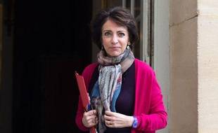 Marisol Touraine le 31 janvier 2014 devant l'Hôtel Matignon.