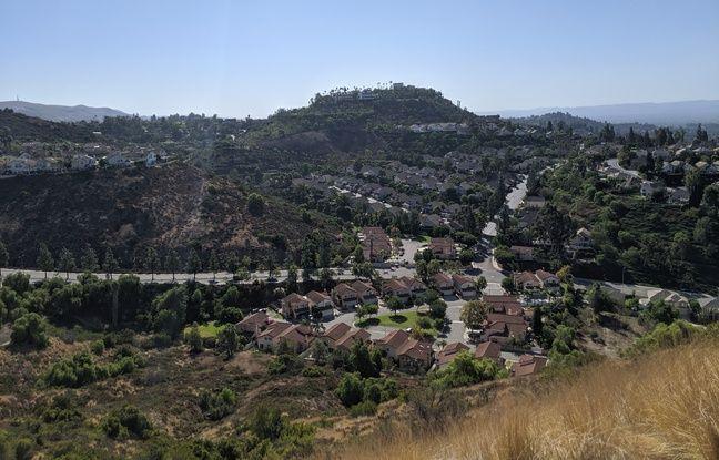 Un quartier de la ville d'Orange, en Californie, dans la zone pouvant être touchée par des coupures d'électricité préventives.