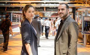 Alice Pol et François-Xavier Demaison dans la première saison de «Disparue».