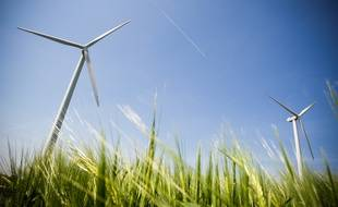 Des éoliennes en Occitanie (Illustration)