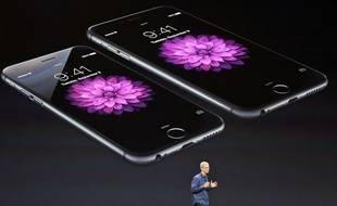Tim Cook présente les nouveautés d'Apple, le 9 septembre à  Cupertino.