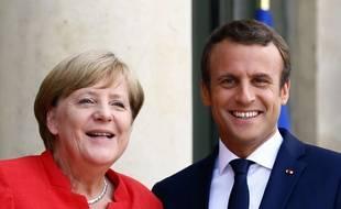 Angela Merkel et Emmanuel Macron le 28 août à l'Elysée.
